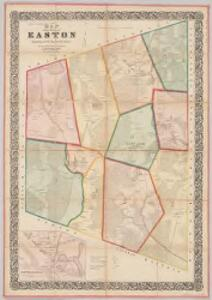 Map of the town of Easton, Bristol County, Massachusetts : surveyed by order of the town