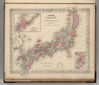 Japan. Nippon, Kiusiu, Sikok, Yesso and the Japanese Kuriles.