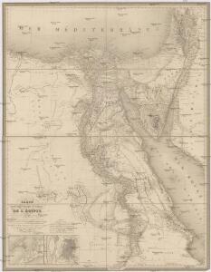 Carte historique, physique & politique de l'Égypte