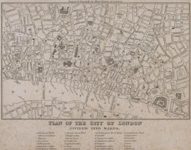 PLAN OF THE CITY OF LONDON DIVIDED INTO WARDS