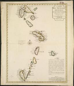 Carte des Antilles francoises et des isles voisines