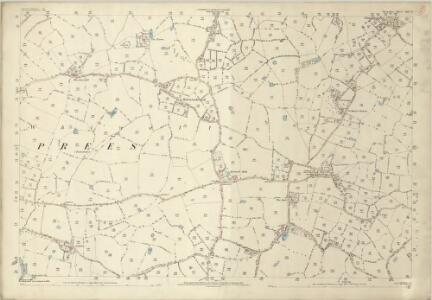 Shropshire XIV.3 (includes: Wem Rural; Whixall) - 25 Inch Map