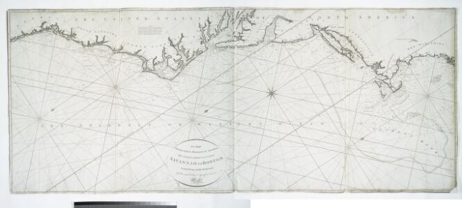 To the independent mariners of America: this chart of their coast from Savannah to Boston is most respectfully dedicated / by their much obliged & grateful servant, W. Heather; engraved by J. Stephenson.