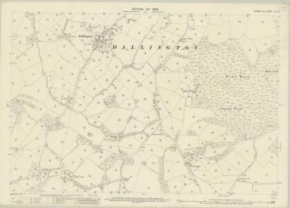 Sussex XLII.12 (includes: Ashburnham; Dallington; Warbleton) - 25 Inch Map