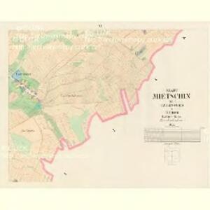 Mietschin - c4578-1-006 - Kaiserpflichtexemplar der Landkarten des stabilen Katasters