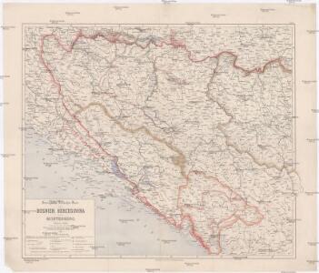 Strategische-Überischts-Karte von Bosnien, Hercegovina und Montenegro