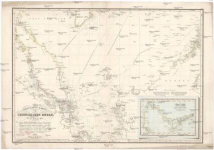 Reduzirte Karte vom Chinesischen Meere.
