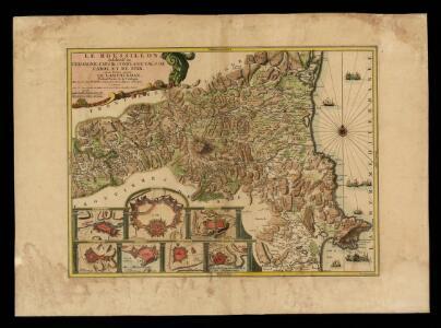 Le Roussillon, subdivisé en Cerdagne, Capsir, Conflans, Vals de Carol et de Spir ou se trouve encore le Lampourdan, faisant partie de la Catalogne / mis au jour par N. de Fer; H. van Loon sculp. A Paris chez G. Danet gendre de l'auteur...