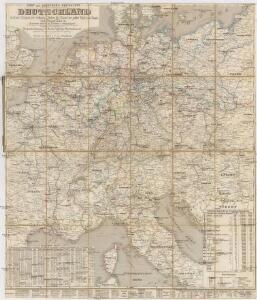 Post- und Eisenbahn-Reisekarte