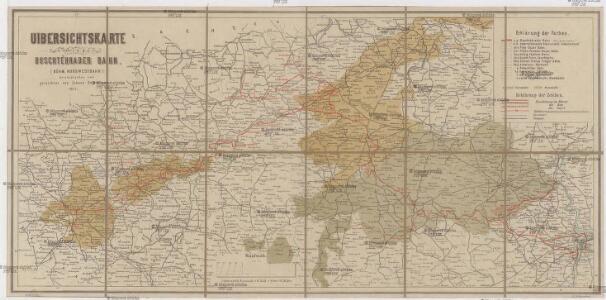 Uibersichtskarte der a. p. Buschtěhrader Bahn (Böhm. Nordwestbahn)