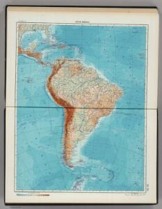 218-219.   South America, Physical.  The World Atlas.