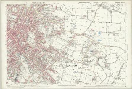 Gloucestershire XXVI.8 (includes: Charlton Kings; Cheltenham; Prestbury) - 25 Inch Map