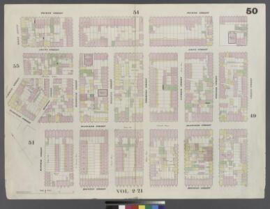 Plate 50: Map bounded by 4th Street, Green Street, Houston Street, Hancock Street, Bleeker Street, Carmine Street, Sixth Avenue