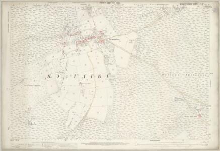 Gloucestershire XXX.15 (includes: Coleford; Dixton; English Bicknor; Staunton) - 25 Inch Map