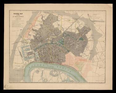 Nouveau plan de la ville d'Anvers / dressé par A. Scheepers