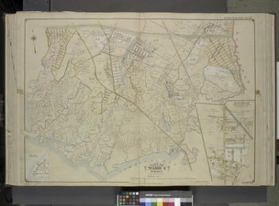 Queens, Vol. 1, Double Page Plate No. 19; Part Of     Ward 4; Jamaica; [Map bounded by Conduit Long Island R.R., Boundary Line Of The  City of New York; Including Hook Canal Creek, Jamaica Bay, Dead or Salt Creek.]; Sub Plan From Plate No. 17 [Map bou