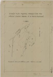 Situační plán pozemku pronajatého pro zřízení lesního tábora pí. B. Friedländerové 1