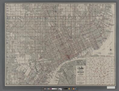 Street guide of Detroit, Highland Park, Hamtramck, Deerborn, River Rouge, Grosse Pointe and Grosse Pointe Park ...