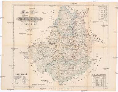 Special-Karte des Piseker Kreis - resp. politischen Verwaltungsbezirkes im Boehmen