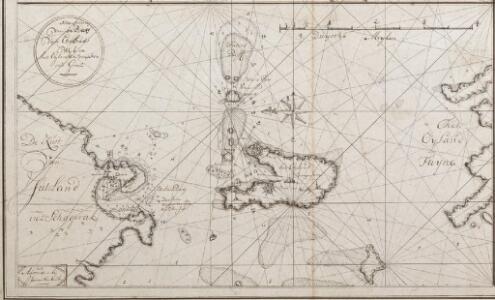 Netto afteekening van de Bay van Ebeltuds Wyk en het eyland Sampsoen in't groot