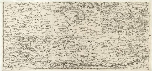 S. R. Imp. Circuli Franconici Geographica Delineatio Francken-Land mit Seinen Gräntzen