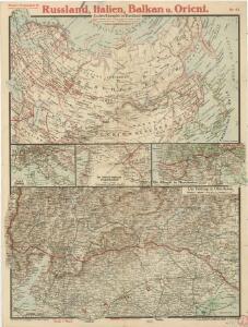 Paasche's Frontenkarte, Nr. 25 Russland, Italien, Balkan u. Orient