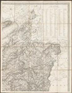 Carte topographique du canton de Fribourg
