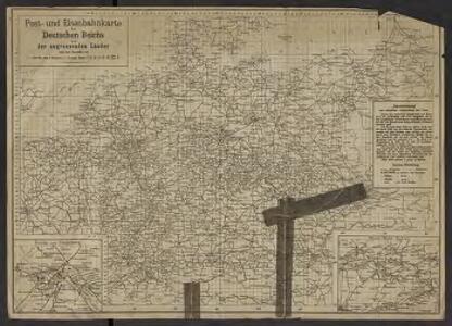 Post- und Eisenbahnkarte des Deutschen Reichs und der angrenzenden lander