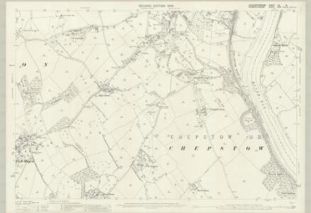 Gloucestershire LIV.14 (includes: Chepstow; Mathern; St Arvans; Tidenham) - 25 Inch Map