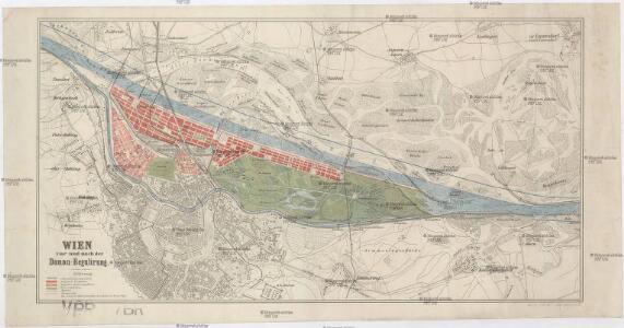 Wien vor und nach der Donau-Regulirung