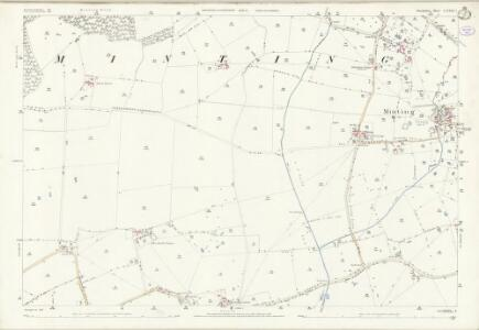 Lincolnshire LXXII.3 (includes: Gautby; Minting) - 25 Inch Map