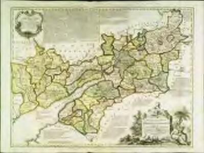 An accurate map of the counties Gloucester and Monmouth
