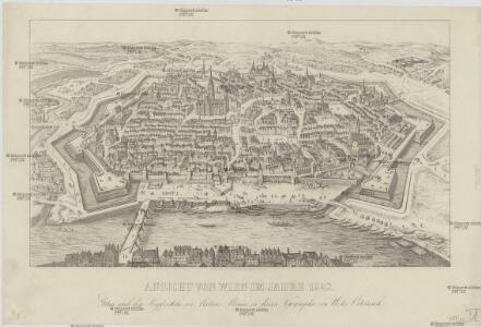 Ansicht von Wien im Jahre 1642