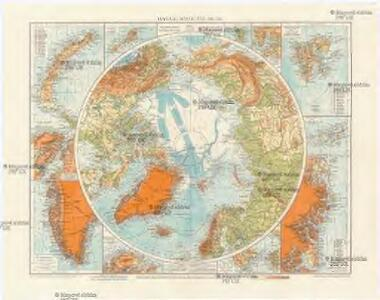 Physical map of the Arctic
