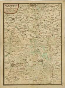Mapa třeboňského panství a okolního území