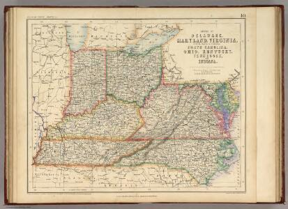 States Of Delaware, Maryland, Virginia (with the District of Columbia) North Carolina, Ohio, Kentucky, Tennessee, And Indiana.