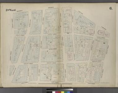 [Plate 6: Map bounded by Broadway, Park Row, Spruce Street, Gold Street, Liberty Street]