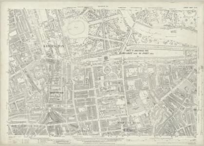 London (1915- Numbered sheets) IV.16 (includes: City Of Westminster; Kensington; Paddington) - 25 Inch Map