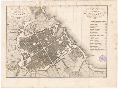 Pianta della città di Palermo = plan de la ville de Palerme