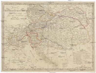 Karte der Österreichischen Monarchie