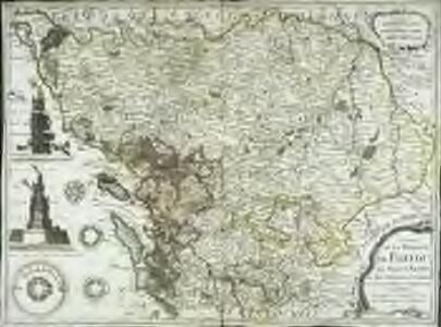 Carte de la province de Poitou, le pays d'Aunis, et des provinces voisines