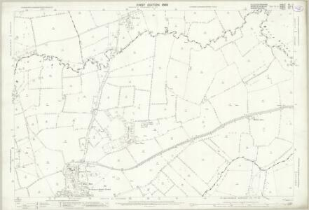 Gloucestershire XV.4 (includes: Burmington; Great Wolford; Little Wolford; Stretton on Fosse; Tidmington; Todenham) - 25 Inch Map