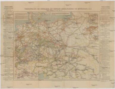 Übersichtskarte der Eisenbahnen und Eisen-Bahn-Abstoss-Stationen von Mitteleuropa 1883