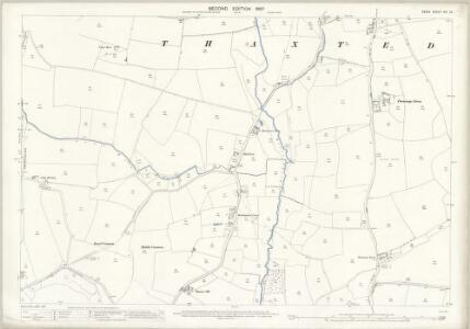 Essex (1st Ed/Rev 1862-96) XIV.12 (includes: Thaxted) - 25 Inch Map