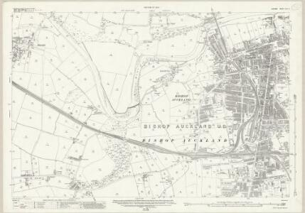 Durham XLII.2 (includes: Bishop Auckland) - 25 Inch Map