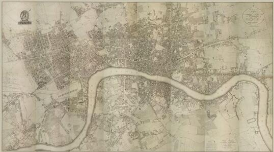 PLAN of the Cities of LONDON and WESTMINSTER the Borough of SOUTHWARK and PARTS adjoining Shewing every HOUSE. By R. Horwood