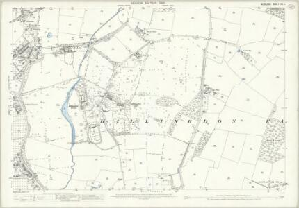 Middlesex XIV.4 (includes: Uxbridge) - 25 Inch Map