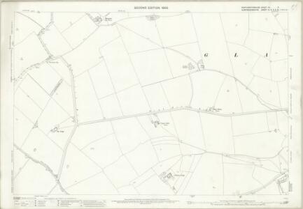 Northamptonshire XX.9 (includes: Conington; Denton and Caldecote; Glatton; Great Gidding; Lutton) - 25 Inch Map