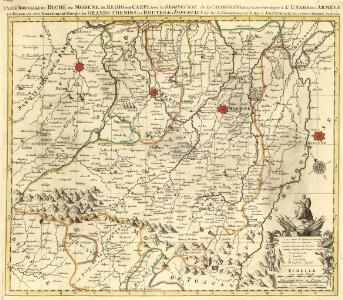 Carte Nouvelle du Duché de Modene, de Regio et de Carpi, avec la Seigneurie, de la Cafargnana &c.