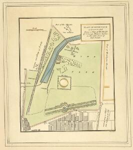 PLAN OF HYDE PARK as it was in 1725